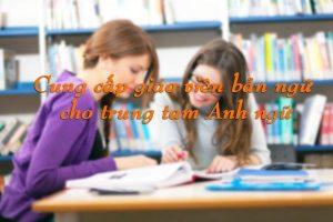 Cung cấp giáo viên bản ngữ cho trung tâm Anh ngữ