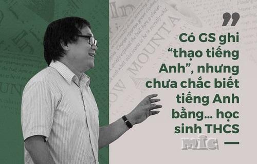GS Nguyễn Tiến Dũng: Tôi đoán nhiều giáo sư, tiến sĩ ở Việt Nam rất sợ sát hạch tiếng Anh